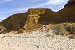 Oregon coast Lincoln City beach erosion. Stock Images