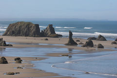 Oregon Coast at Low Tide Stock Photography