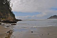 Oregon Coast. Low tide at oswald park near Tillamook oregon Stock Photography