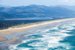 The Oregon Coast and the Pacific Ocean. Scenic view Stock Images