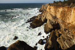 Oregon coast portraits. Cape Arago State Park and the sandstone cliffs Stock Photos