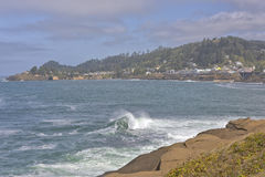 Oregon coast real estate and landscape. Royalty Free Stock Image