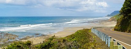 Oregon coast ocean road. View of the Oregon Coast from highway 101 Stock Photography
