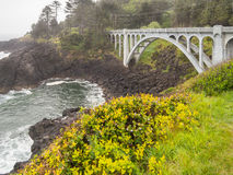 Oregon coastal bridge Stock Photos