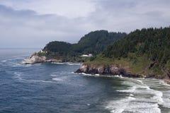 Oregon coastline. Beautiful rocky Oregon coastline USA Stock Image