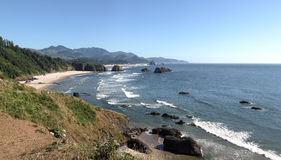 Oregon coastline from Ecola state park, Oregon. Stock Photography