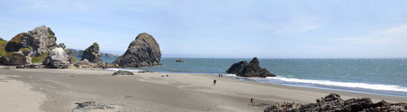 Oregon coastline panorama near Coos Bay. Stock Photography