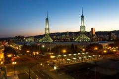 Oregon Convention center at twilight. Portland, Oregon Stock Image