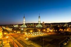 Oregon Convention center at twilight. Portland, Oregon Royalty Free Stock Image