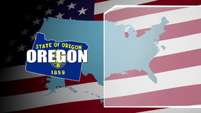 Oregon Countered Flag and Information Panel stock video footage