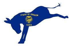 Oregon Democrat Donkey Flag Royalty Free Stock Images