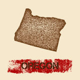 Oregon distressed map. Stock Photography