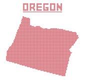 Oregon Dot Map Royalty Free Stock Photo