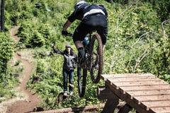 2013 Oregon Enduro - ladder drop Stock Photos