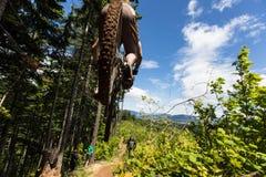 Oregon 2013 Enduro - Leitertropfen stockfotografie