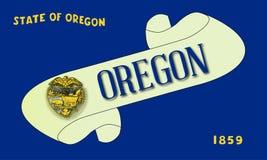 Oregon flaga ślimacznica ilustracja wektor