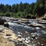 Oregon floder Arkivfoto