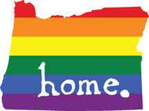 Oregon gay pride vector state sign Stock Photos