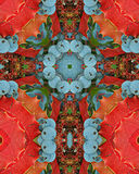 Oregon Grapes cross. Kaleidoscope cross from photo of Oregon Grapes Stock Photography