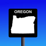 Oregon highway sign Royalty Free Stock Images