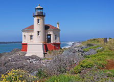 Oregon Historic Lighthouse Royalty Free Stock Photos