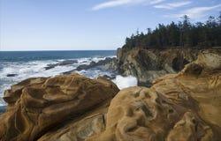 Oregon-Küstenlinie stockbilder