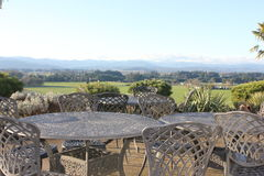 Oregon-Küstenstrecke Weinkellerei-Ansicht Stockfotos