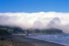 Oregon kust och Shoreline Arkivfoto