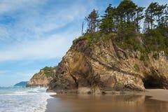 Oregon kustlinje Arkivfoto