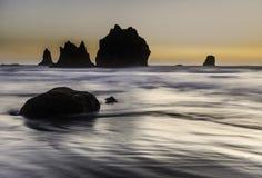 Oregon kuststrand Arkivfoton
