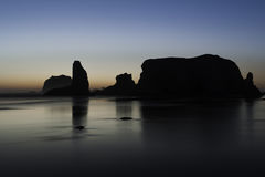 Oregon kuststrand Arkivfoto