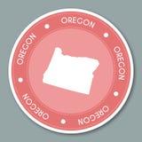 Oregon label flat sticker design. Stock Photo
