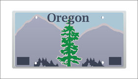 Oregon License Plate Stock Photography