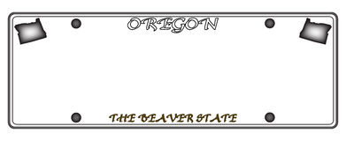 Oregon License Plate Royalty Free Stock Photography