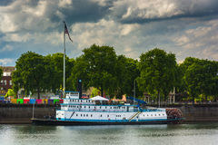 The Oregon Maritime Museum, seen from the Eastbank Esplanade  Royalty Free Stock Photography