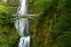 Oregon Multnomah Falls royalty free stock photo