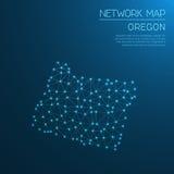 Oregon network map. Royalty Free Stock Photo