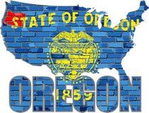 Oregon på en tegelstenvägg Fotografering för Bildbyråer