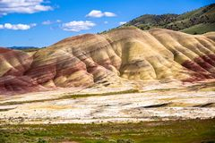 Painted Hills Oregon royalty free stock image