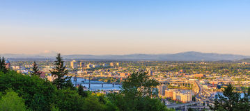 oregon panorama Portland Fotografia Stock