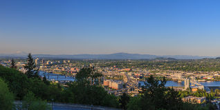 oregon panorama Portland Fotografia Royalty Free