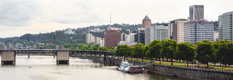 oregon panorama portland Royaltyfria Bilder