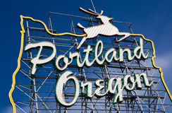 oregon portland tecken royaltyfria foton