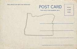 Oregon Postcard Royalty Free Stock Photography