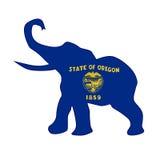 Oregon Republican Elephant Flag Stock Photography