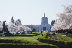 Oregon State Capital in Spring. Royalty Free Stock Photography