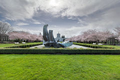Oregon State Capitol Building in Spring Time Stock Photo