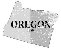 Oregon State and Date Grunged Stock Photography