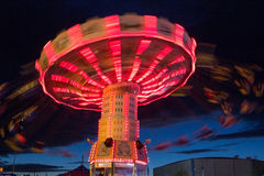 Oregon State Fair Swing Ride Royalty Free Stock Image