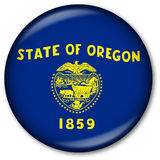 Oregon State Flag Button. Glassy Web Button with the flag of the state of Oregon, USA Royalty Free Stock Image